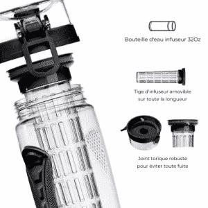 Bouteille d'infusion à froid - Sans PBA - 7 couleurs